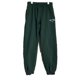 rare brandy melville forest green rosa sweatpants